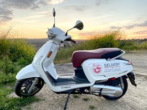 Chick-fil-A deliver scooter